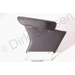 Center armrest, new, leather, black