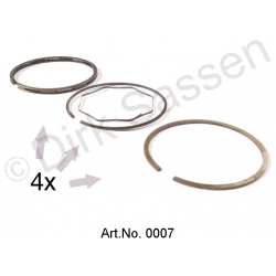 Piston ring set, DV/DY, 86 mm