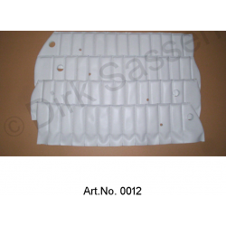 Set of covers for door trim, top, white, quilted