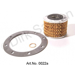 Oil filter set, 3-part (oil filter and paper and copper seal)