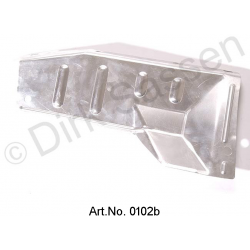 Exhaust manifold shielding plate, outside, without preheating spigot