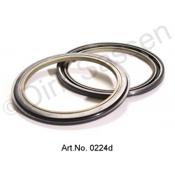 Oil seal for wheel bearings, front, 2 pieces