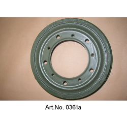 Brake drum, saloon, sandblasted and turned off, exchange part