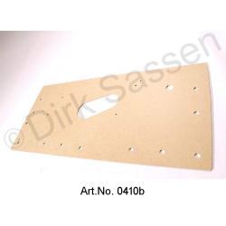 Cardboard for door trim, rear