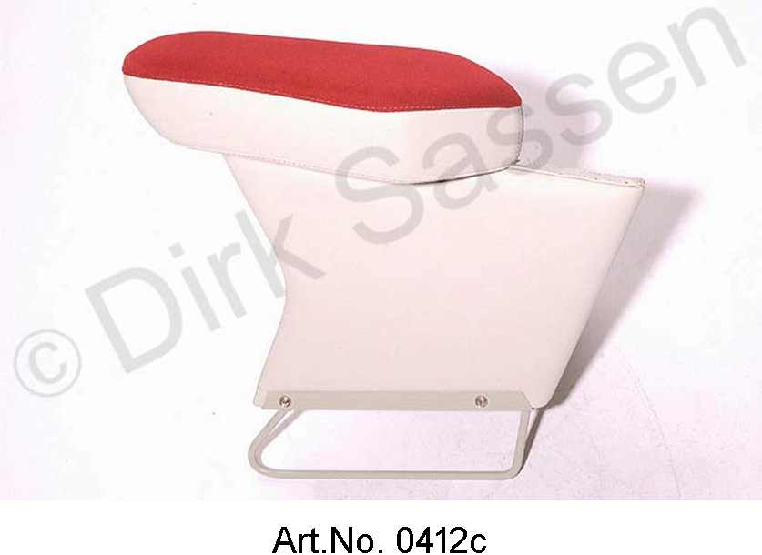 Center armrest, new, suede, dark red