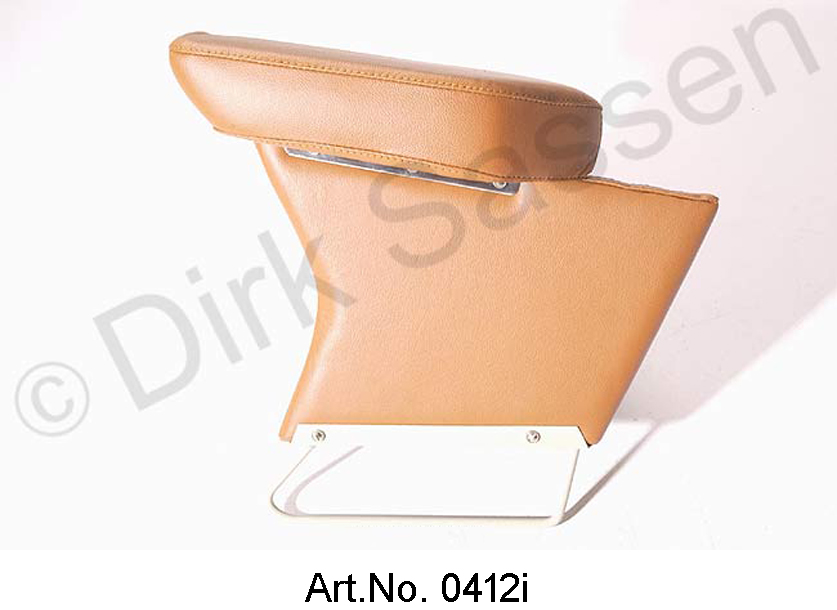 Center armrest, new, leather, light brown