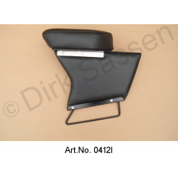 Center armrest, new, imitation leather, black