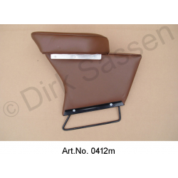Center armrest, new, imitation leather, dark brown