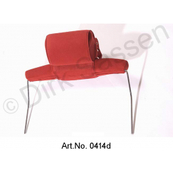 Headrest, wide, velours, dark red