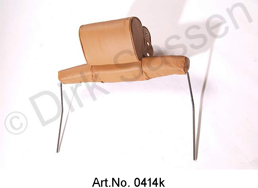 Headrest, wide, leather, light brown