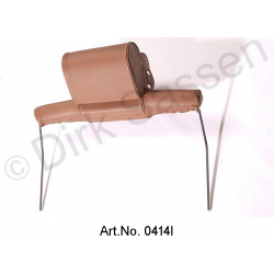 Headrest, wide, leather, dark brown