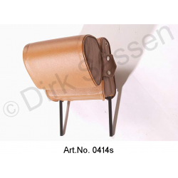 Headrest, narrow, leather, light brown