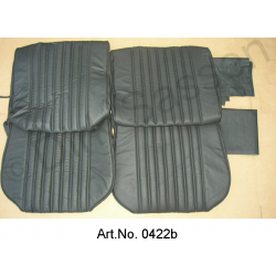 Seat covers, front seats and rear seat, leather, black, not mounted
