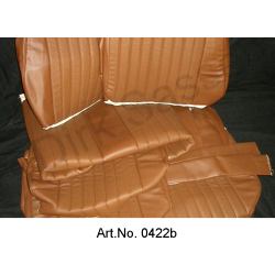 Set of seat covers, Non-Pallas, imitation leather, brown, not assembled