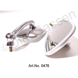Set of exterior mirrors, chrome-plated