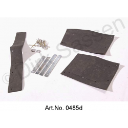 Gasket set for fenders, steering transmission, including mounting kit