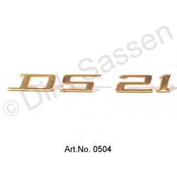 Monogramm, gold, ´DS 21`