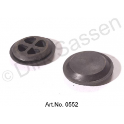 Floor plug, round, trunk and rear end panel, diameter 36 mm, cross-reinforced