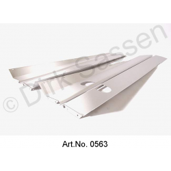 Set of threshold panels, stainless steel, brushed, Sedan