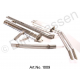Exhaust system, stainless steel, from 1965, main silencer, double pipes, rear silencer, flexible pipe