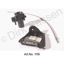 Pressure regulator conversion kit, LHM, from aluminum to steel, with bracket and main pressure line, VA, curved