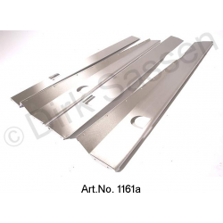 Set of threshold panels, stainless steel, brushed, Cabriolet or Break