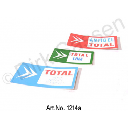 Set of stickers, 'Total`, 3-part (green, blue, red)