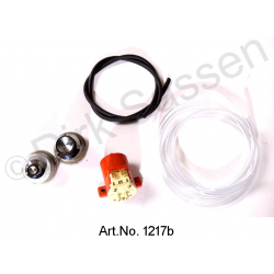 Switch for windscreen washer systems, electrically converted, with windscreen washer pump, exchange part
