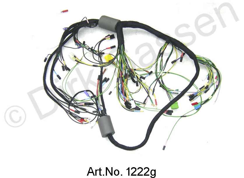 Wiring harness, alternating current, from 04/1971, left battery, round on