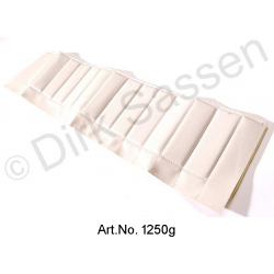 Cover for door trim, top, imitation leather, white, front, right