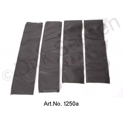 Set of covers for door trim, top, leather, black