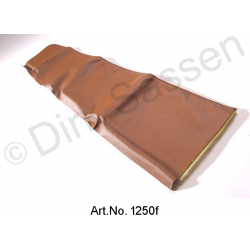 Cover for door trim, top, leather, dark brown