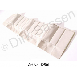Cover for door trim, top, imitation leather, white, back, right