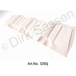 Cover for door trim, top, imitation leather, white, back, left