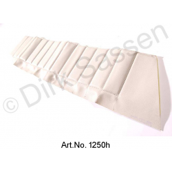 Cover for door trim, top, imitation leather, white, front, left