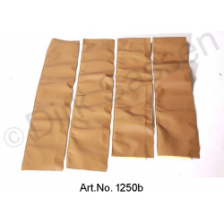 Set of covers for door trim, top, leather, light brown
