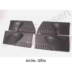 Set of door panels, leather, black, ready made