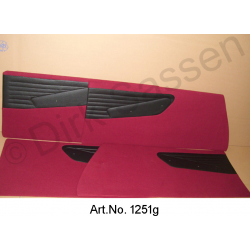 Set of door panels, Non-Pallas, imitation leather, brown, ready-made, for model with bolted armrest