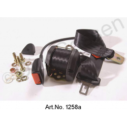 Automatic belt, 3-point, with 60 cm whip