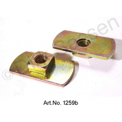 Base plate for automatic belt, with thread, 50 x 27 mm