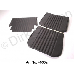 Front seat cover, leather, black