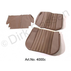 Front seat cover, leatherette, dark brown