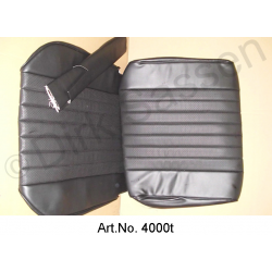 Front seat cover, leatherette, black
