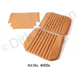 Front seat cover, leather, light brown