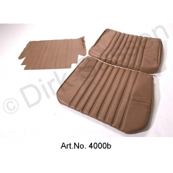 Front seat cover, leather, dark brown