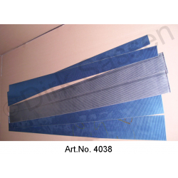 Panel set for access panel, 6-part, and inner panel covers for doors, left and right, inox