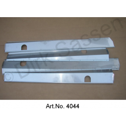 Cover for door sills, Inox, high-gloss, 4-part