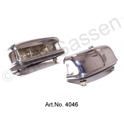 Illumination for license plate, Convertible