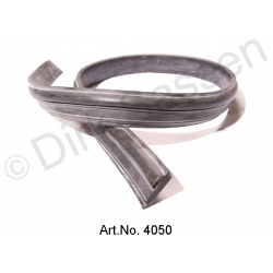 Rubber seal, for window frames, above