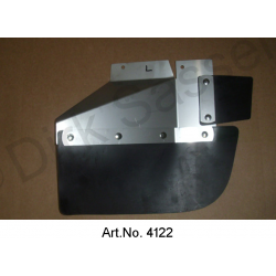 Mudflaps, with stainless steel sheet, Break, rear end, left